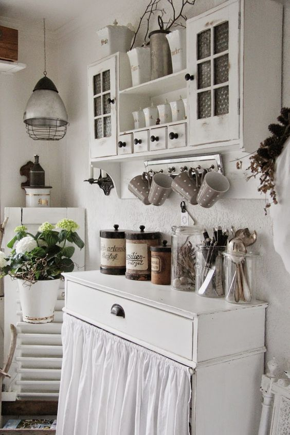 whitewashed kitchen furniture