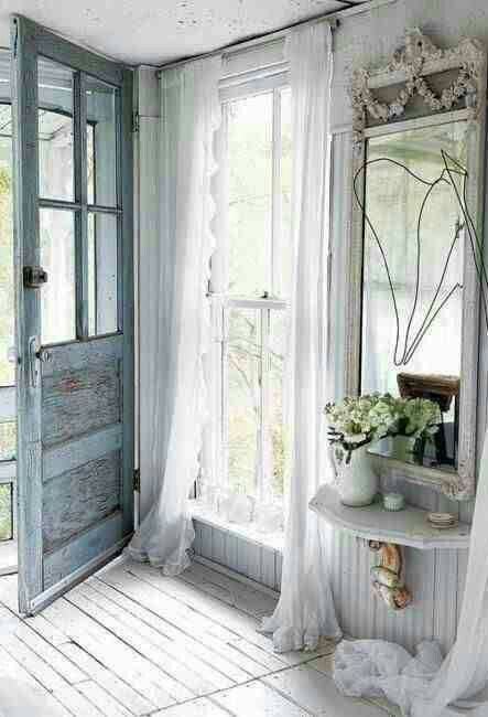 25 shabby chic hallway and entryway d cor ideas shelterness for French style entry doors