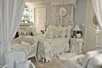 03 all-white shabby chic bedroom with ruffled textiles