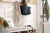 03 cushion mudroom bench with storage space