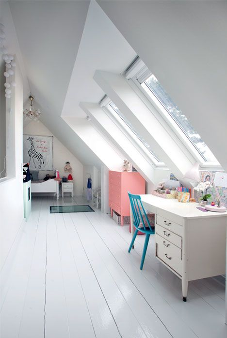 narrow attic bedroom ideas - 30 Cozy Attic Kids Rooms And Bedrooms Shelterness