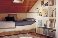 04 attic sleeping nook with a window