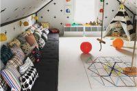 04 geo print attic kids' room