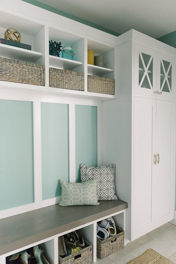 Mudroom Locker With A Cabinet