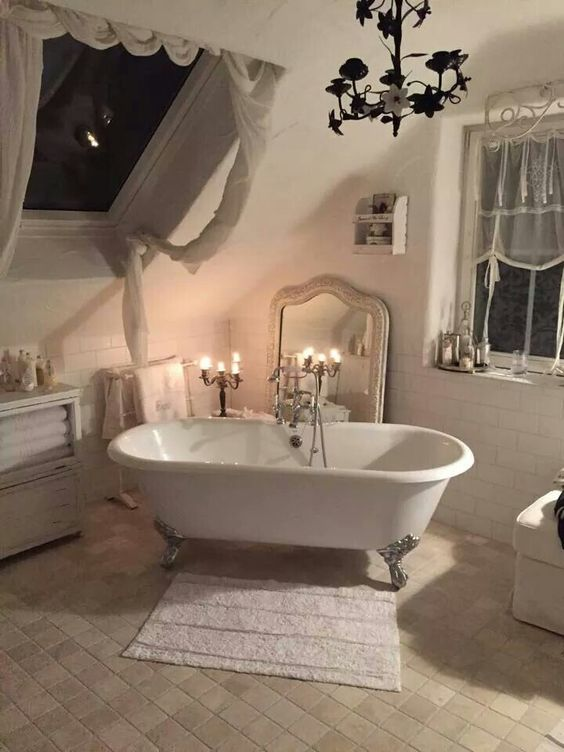 26 adorable shabby chic bathroom d cor ideas shelterness. Black Bedroom Furniture Sets. Home Design Ideas