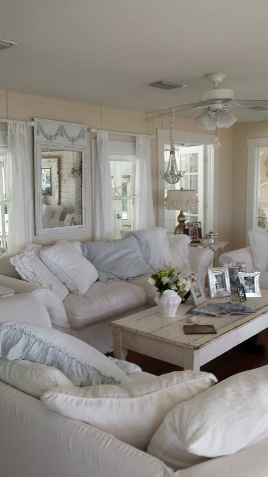 shabby chic bedroom with serenity blue touches