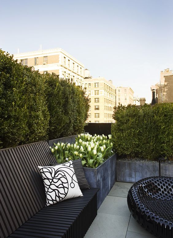 vertical rooftop garden to save some space