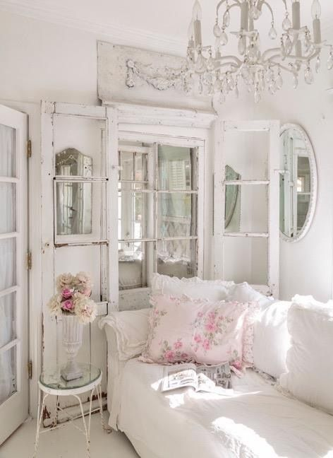 26 charming shabby chic living room d cor ideas shelterness. Black Bedroom Furniture Sets. Home Design Ideas