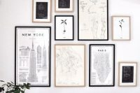 05 black and white gallery art wall