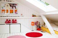 05 colorful attic kids' room