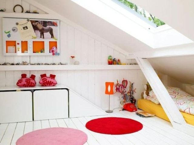 colorful attic kids' room