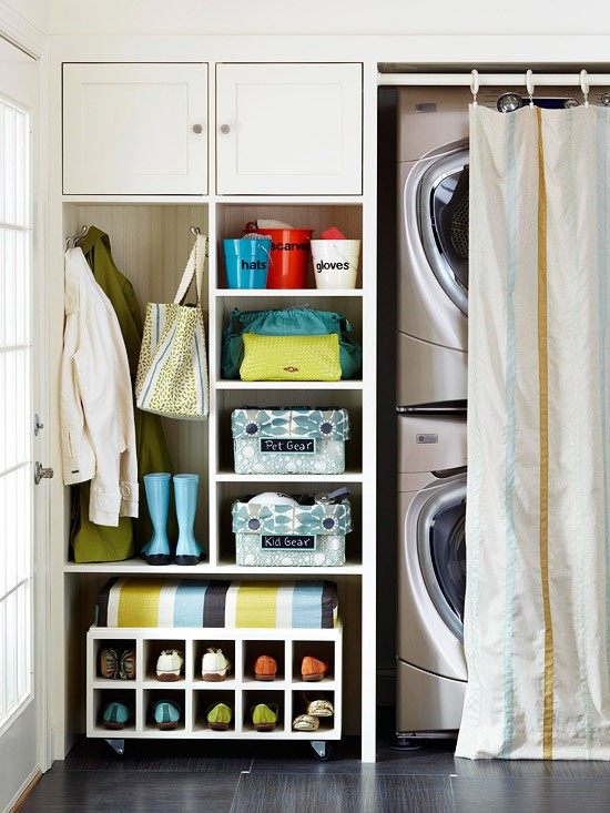 hidden laundry in the mudroom