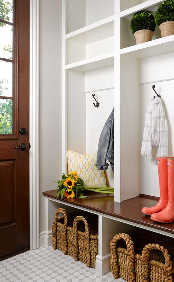 Mudroom Locker With A Storage Bench