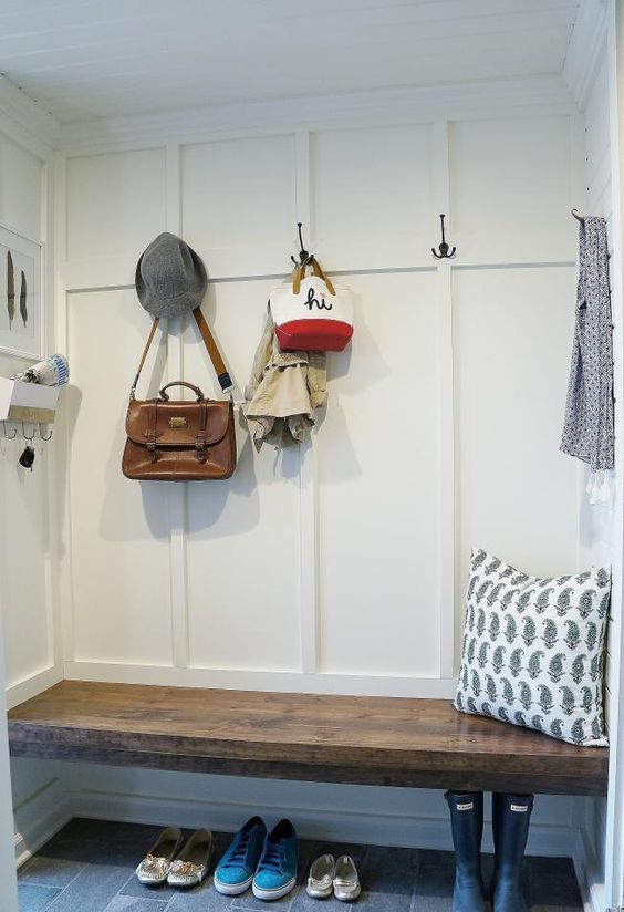 Built In Mudroom Bench