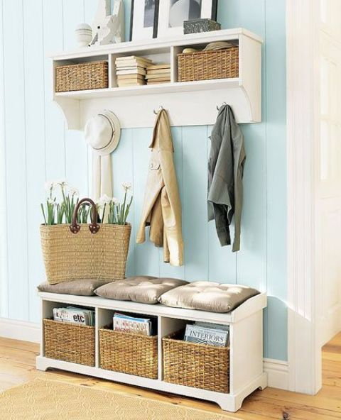 Separate Cushions Mudroom Bench