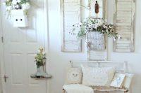 06 shabby chic cottage-style whitewashed entryway