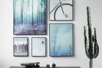 06 shades of blue gallery art wall