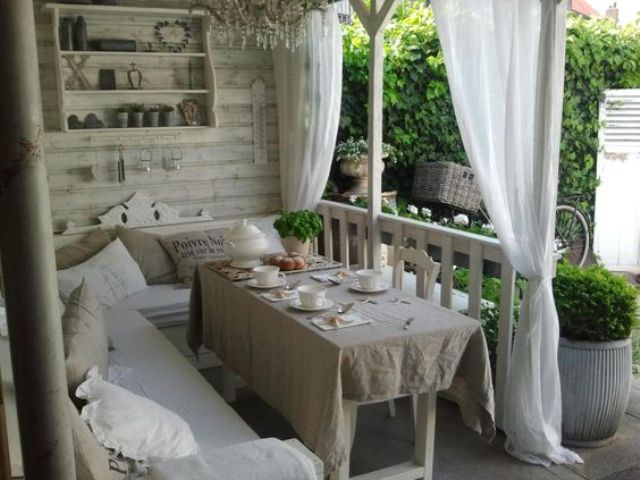27 shabby chic terrace and patio d cor ideas shelterness. Black Bedroom Furniture Sets. Home Design Ideas