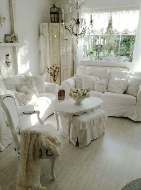 26 charming shabby chic living room d cor ideas shelterness Shabby chic living room accessories