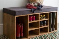 07 soft entryway bench with shoe storage units