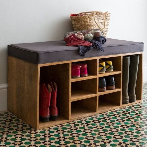 soft entryway bench with shoe storage units