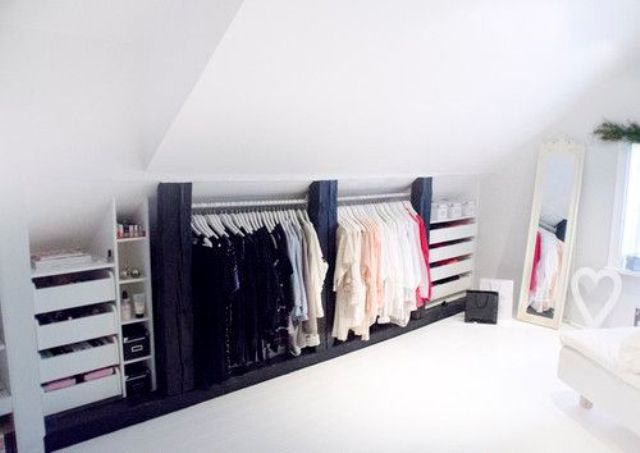 attic eaves storage ideas - 26 Creative And Smart Attic Storage Ideas To Try Shelterness