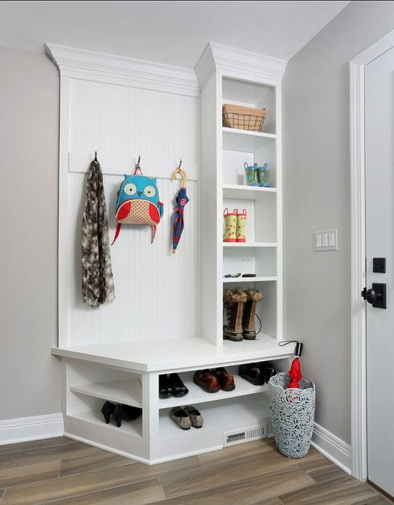 tiny mudroom locker