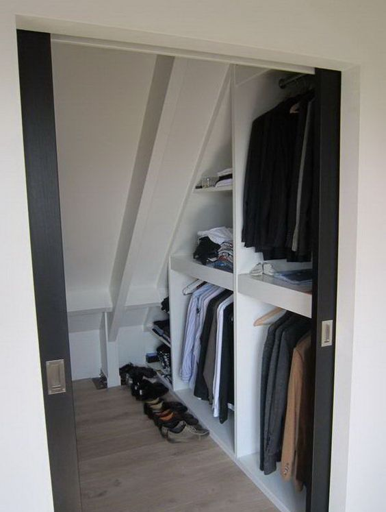 closet storage compartments under the eaves