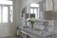 09 whitewashed shabby chic entry with grey touches