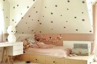 10 blush and polka dot attic girls' room