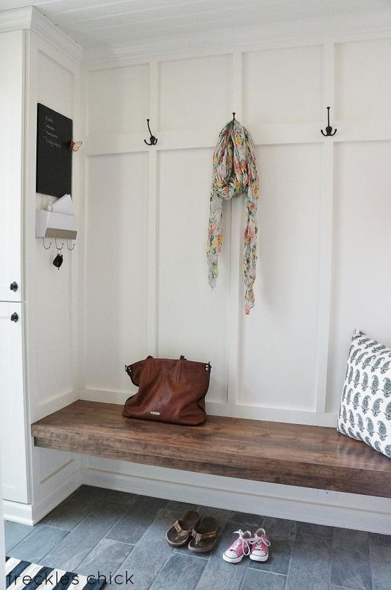 32 small mudroom and entryway storage ideas shelterness for Foyer seating area ideas
