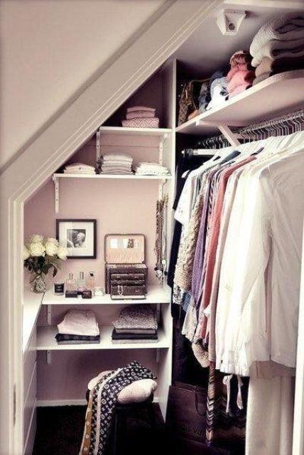 closet under the roof
