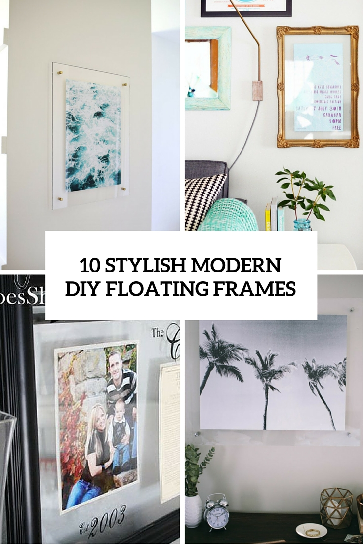 10 Modern DIY Floating Picture Frames
