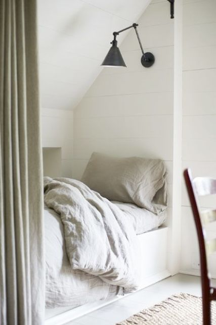 sleeping attic nook