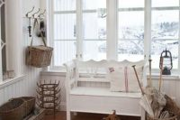 11 shabby chic hallway with rustic touches