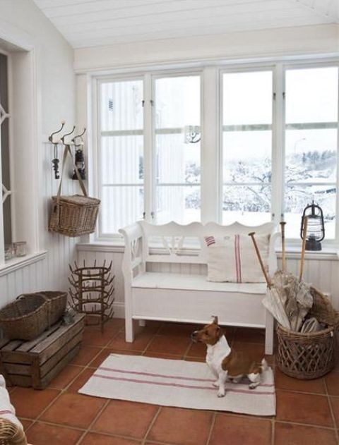 Rustic Chic Foyer : Shabby chic hallway and entryway décor ideas shelterness