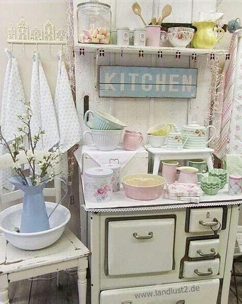 dishes and tableware in pastel shades