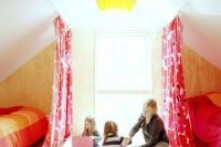 12 bold attic shared girls' bedroom