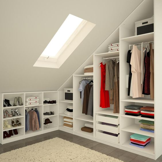 clothes and shoes storage compartments