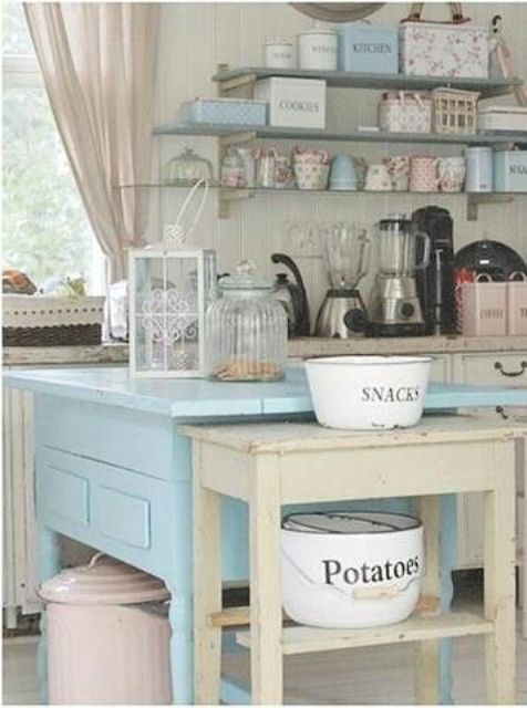 Pastel Kitchen Accessories And Dishes