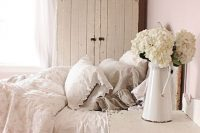 12 shabby chic bedroom with a whitewashed plank cabinet