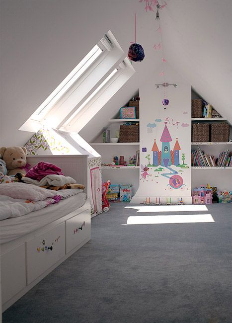 30 cozy attic kids rooms and bedrooms shelterness for Little kids room