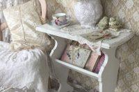 13 shabby white magazine rack