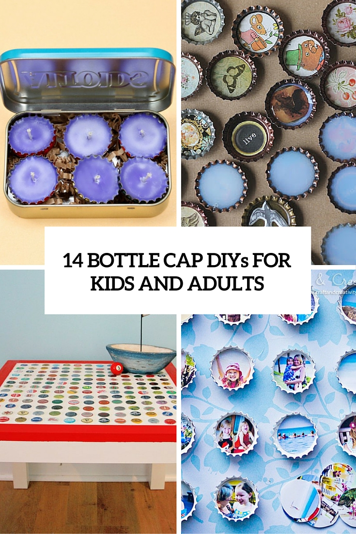 14 Fun Bottle Cap Crafts For Kids And Adults