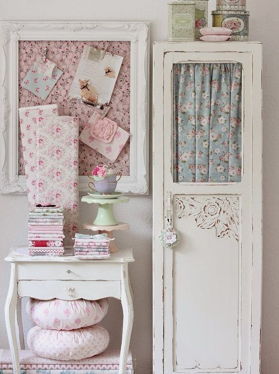 floral shabby chic textiles