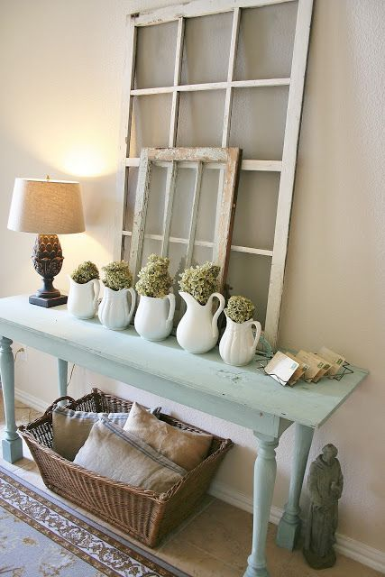 mint console table for displaying objects