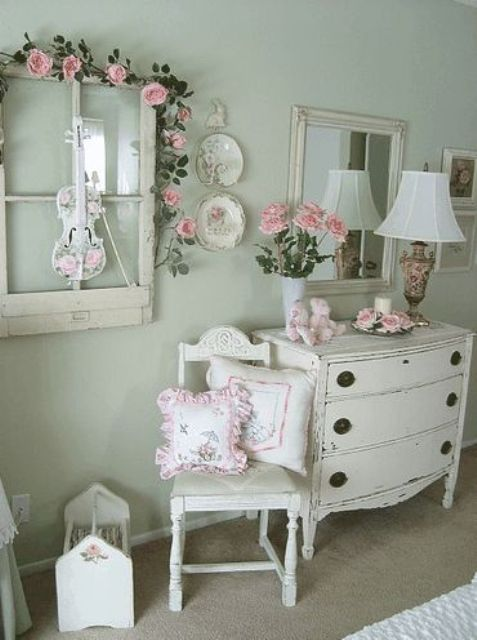 25 delicate shabby chic bedroom decor ideas shelterness 17042 | 14 white distressed bedroom furniture
