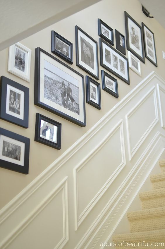 33 stairway gallery wall ideas to get you inspired for Best place to get picture frames