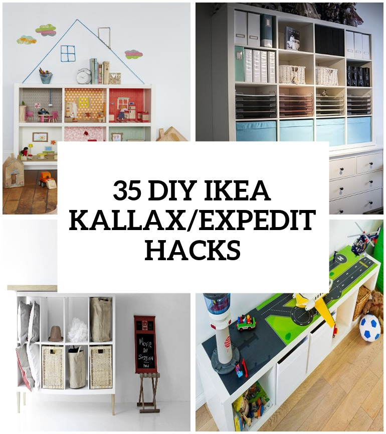 35 DIY IKEA Kallax Shelves Hacks You Could Try