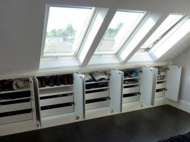 shoes compartments and drawers